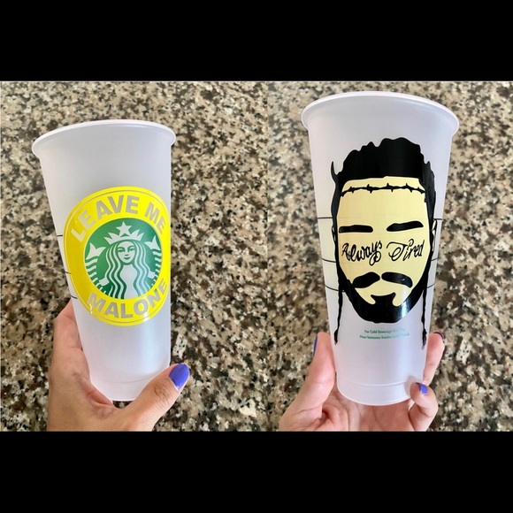 Post Malone Cold Cup Starbucks Cold Drink Cup Post Malone Reusable Cold Cup Post Malone Starbucks Cup
